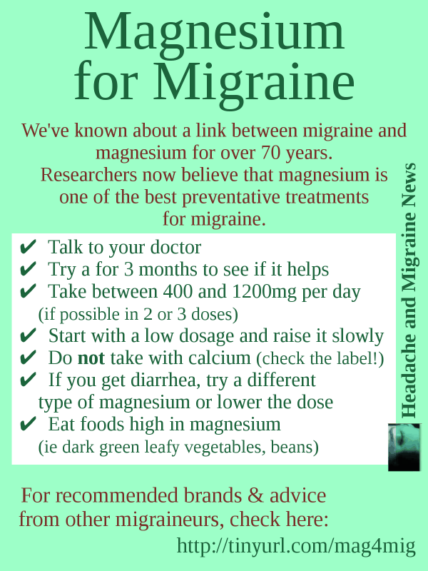 Magnesium for Migraine