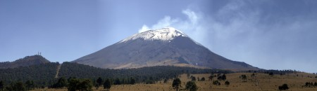 Popocatépetl Volcano Mountain in Mexico - 5,426 m (17,802 ft)