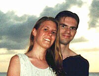 Shari and I on our honeymoon in Tobago