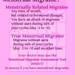 Do You have Menstrual Migraine?