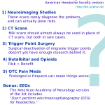 Headache: Five Things Physicians and Patients Should Question