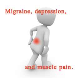 Muscle soreness and migraine